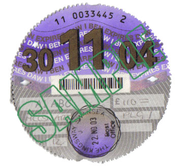 Tax Disc - Vehicle License Disc