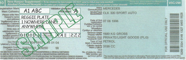 V5c 2 Registration Certificate Number Plates For Less From