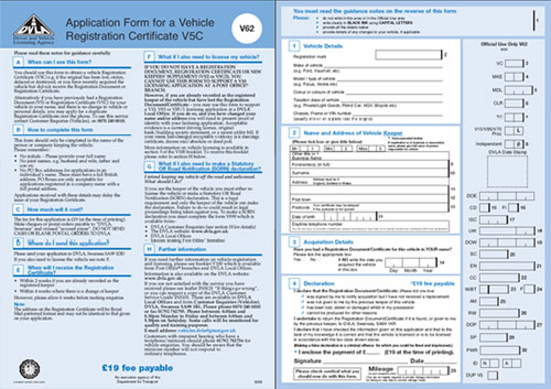 V62 Application for a Registration Document