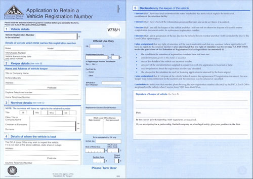 V778/1 Application to put a registration on Retention